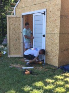 Installing the Shed Door